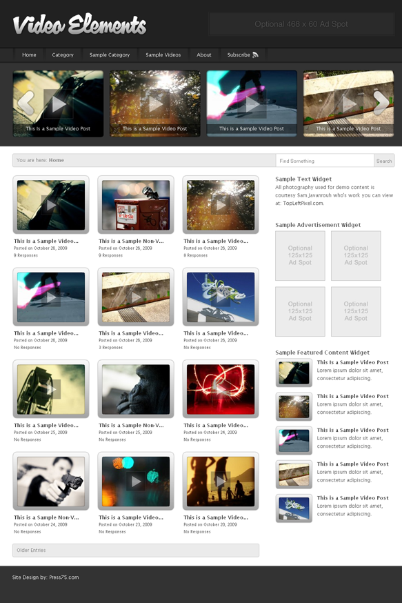 Free Download Press75 WordPress Theme – Video Elements – v2.5.3 ...